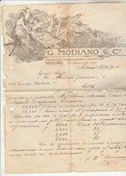 Italie Facture Illustrée 15/11/1906 G MODIANO Premiato Stabilimento Artistico MILANO - Italie