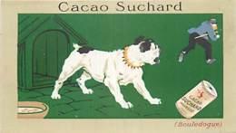 CHROMOS CHOCOLAT SUCHARD SERIE LES CHIENS BOULEDOGUE CACAO - Suchard