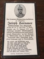Sterbebild Wk1 Ww1 Bidprentje Avis Décès Deathcard IR14 SOMME 22. Januar 1917 Verschüttung Mit 5 Kameraden  Zinzenzell - 1914-18