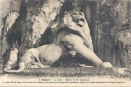 BELFORT . LE LION . OEUVRE DE BARTHOLDI . AFFR AU VERSO LE 7-8-1924 . 2 SCANES - Belfort – Le Lion