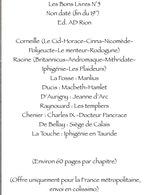 Les Bons Livres N°5 Non Daté (fin Du 19°)Ed. AD Rion : Corneille -Racine-La Fosse -Ducis-D'Aurigny -Raynouard-Chenier- - Encyclopédies