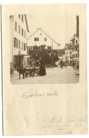 RICHTERSWEIL Echte Fotokarte 1903 HUND Gezogene Milch Verkauf In Der Strasse Strassenleben 1903 - ZH Zürich