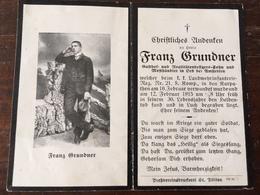 Sterbebild Wk1 Ww1 Bidprentje Avis Décès Deathcard KUK LIR21 LUCH KARPATHEN Februar 1915 Aus Oed Bei Amstetten - 1914-18