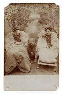 CPA Photo Douane Douaniers En Poste Avec Leur Chien En Embuscade Couverture Mouton Localisation Frontière Belge ? - Douane