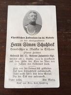 Sterbebild Wk1 Ww1 Bidprentje Avis Décès Deathcard RIR15 1. September 1914 Aus Edlham - 1914-18