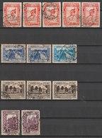 MiNr. 337, 338, 339, 341  Peru 1936, Dez. Freimarken: Landesmotive. - Peru