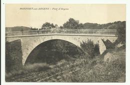 Cpa , MONTFORT Sur ARGENS - Le Pont D'Argens , Animé - - France