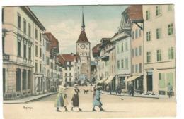 AARAU Strassenleben Um 1904 Koloriert - AG Aargau