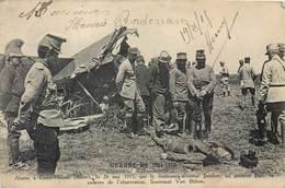CPA Guerre Cuiry Housse Aisne Avion Albatros Abattu Par Jacobet Cadavre Observateur Von Bulow Militaria Soldats Uniforme - Frankrijk