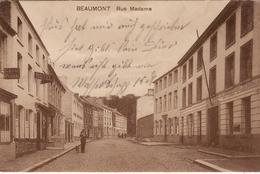 BEAUMONT  RUE MADAME ECRITE EN FELDPOST GUERRE 14 18 I - Beaumont