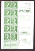 France - 1955/59 - Carnet 1010-C1 - Neuf ** - Marianne De Muller - Booklets