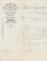 Italie Facture Lettre Illustrée 1/4/1887 Alberto ANGIOLINI Vini Cognac Champagne LIVORNO - Italie