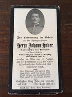 Sterbebild Wk1 Ww1 Bidprentje Avis Décès Deathcard 1. Ersatz Batl. 8 LAITRE SENONES 17. September 1914 Aus Edelham - 1914-18