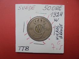 SUEDE 50 ÖRE 1924 (A.3) - Suède