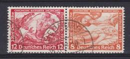 ALLEMAGNE III Reich 1933:   Paire Se-tenant, Oblitérés - Deutschland