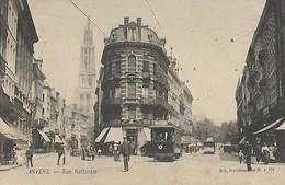 CARTE POSTALE ORIGINALE ANCIENNE : ANVERS LA RUE NATIONALE TRAMWAY ANIMEE  BELGIQUE - Antwerpen