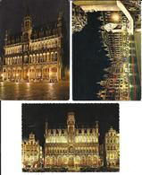 3 X CPA / AK / PK   -   BRUXELLES   Maison Du Roi + Maison Des Ducs De Brabant - Bruxelles La Nuit
