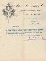 Italie Facture Lettre Illustrée 26/4/1911 BELLARDI Vermouth TORINO - Italie