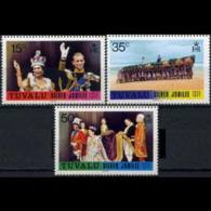 TUVALU 1977 - Scott# 43-5 QEII Reign Set Of 3 MNH - Tuvalu