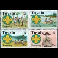 TUVALU 1977 - Scott# 50-3 Scouting Set Of 4 MNH - Tuvalu