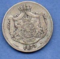 Roumanie - 2  Lei 1873 -  Km# 81 -  état  TB - Roumanie