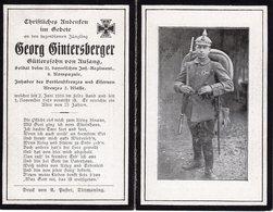 Ardennes. 1918. BEAUMONT EN ARGONNE. Sterbebild Avis Décès Soldat Allemand - 1914-18