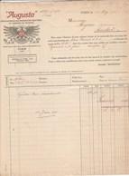 Italie Facture  Illustrée 18/5/1911 AUGUSTA Fonderie De Caractères Et Machines TURIN Pour Migeon Imprimerie à Ambert - Italie