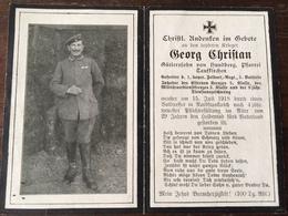 Sterbebild Wk1 Ww1 Bidprentje Avis Décès Deathcard FAR1 SOUAIN 15. Juli 1918 Aus Hundberg Taufkirchen - 1914-18