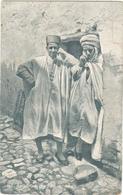 POSTAL     TYPES ARABES DE ALGERIE  (PEQUEÑA ROTURA PARTE ALTA DERECHA) - Postales