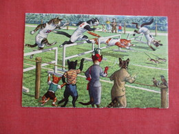 Dressed Cats--- Hurdle Running    Ref 3139 - Chats