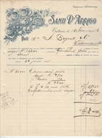 Italie Facture  Illustrée 18/11/1916 SANTI D'ARRIGO Fruits Primeurs Citrons CATANE ( Catania ) - Italie