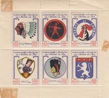 BLOC  CHAMPIONNAT D'ATHLETISME DE L'ARMEE DE L'AIR. LYON 9 AOUT 1942. PAR BALLON POSTE. ETAT - Commemorative Labels