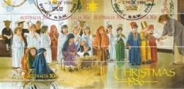 Australia 1986 Christmas Minisheet Used - Used Stamps