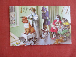 Dressed Cats--Cutting Dogs Hair Barber    Ref 3139 - Cats