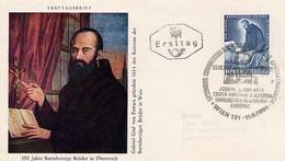 AUSTRIA - OSTERREICH - FDC  1964 - BARMHERZIGE BRUDER - GABRIEL GRAF VON FERRARA - JOSEPH GEORG BEER OFTALMOLOGIA - Malattie