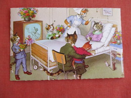 Dressed Cats-- Sick In Bed    Ref 3139 - Cats