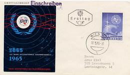 AUSTRIA - OSTERREICH - FDC  1965 - TELEGRAFO - TASTO MORSE  UIT - Telecom