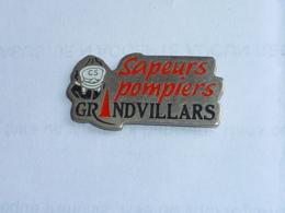 Pin's SAPEURS POMPIERS DE GRANDVILLARS - Bomberos