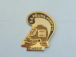 Pin's SAPEURS POMPIERS DE L ABSIE - Firemen