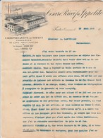Italie Facture Lettre Illustrée 19/8/1909 Cesare Ricci Fu Ippolito Lane Meccaniche PRATO - Laine - Italie