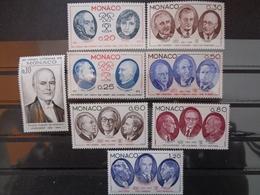 MONACO 1976 Y&T N° 1043 à 1050 ** - XXVe ANNIV. DE LA FONDATION DU CONSEIL LITTERAIRE DE MONACO - Monaco