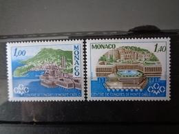 MONACO 1978 Y&T N° 1136 & 1137 ** - INAUGURATION DU CENTRE DE CONGRES DE MONTE CARLO - Monaco