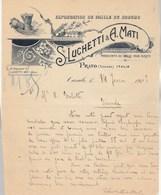 Italie Facture Lettre Illustrée 14/2/1922 S Luchetti & A Mati Paille De Sorgho Pour Balais  PRATO - - Italie