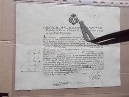 1788 LYON RUE DE L'ORANGERIE Obligation De Réparation De La Chaussée Par Riverain Armoirie Armes Royale - Documents Historiques