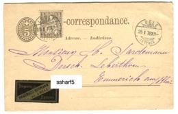 PRÉCURSEUR VORLÄUFER 1878 Le LOCLE Avec Publicité Droguerie Pharmacie Epicerie Burmann (vignette S Carte-Correspondance) - NE Neuchatel