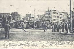 Cpa Afrique – Egypte –Cairo – Ataba-el-Khadra Square ( Tramway ) - Le Caire