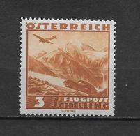 LOTE 1824  ///  AUSTRIA 1937  YVERT Nº:  CA 44 *MH   COTE:20€  ¡¡¡OFERTA !!! - Luftpost