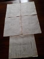 5 Anciennes Factures Pernod Fils. Pontarlier 1886. Absinthe Et Autre. Timbres à L'arrière , Voir Photos - France