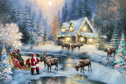 Winter Christmas And New Year Modern Rare New Postcard #103/12 - Andere