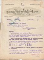 Italie Facture Lettre 30/5/1922  A I D A Assicurazioni NAPOLI Pour Hyères Var - Assurances Canot à Voile , Aurtomobile - Italie